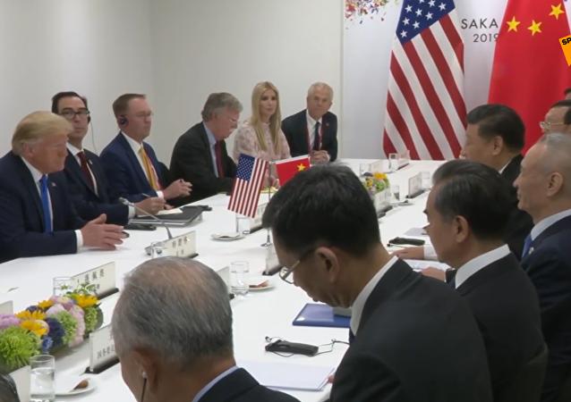 习近平同美国总统特朗普在大阪举行会晤