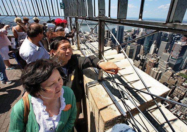 中国游客在纽约