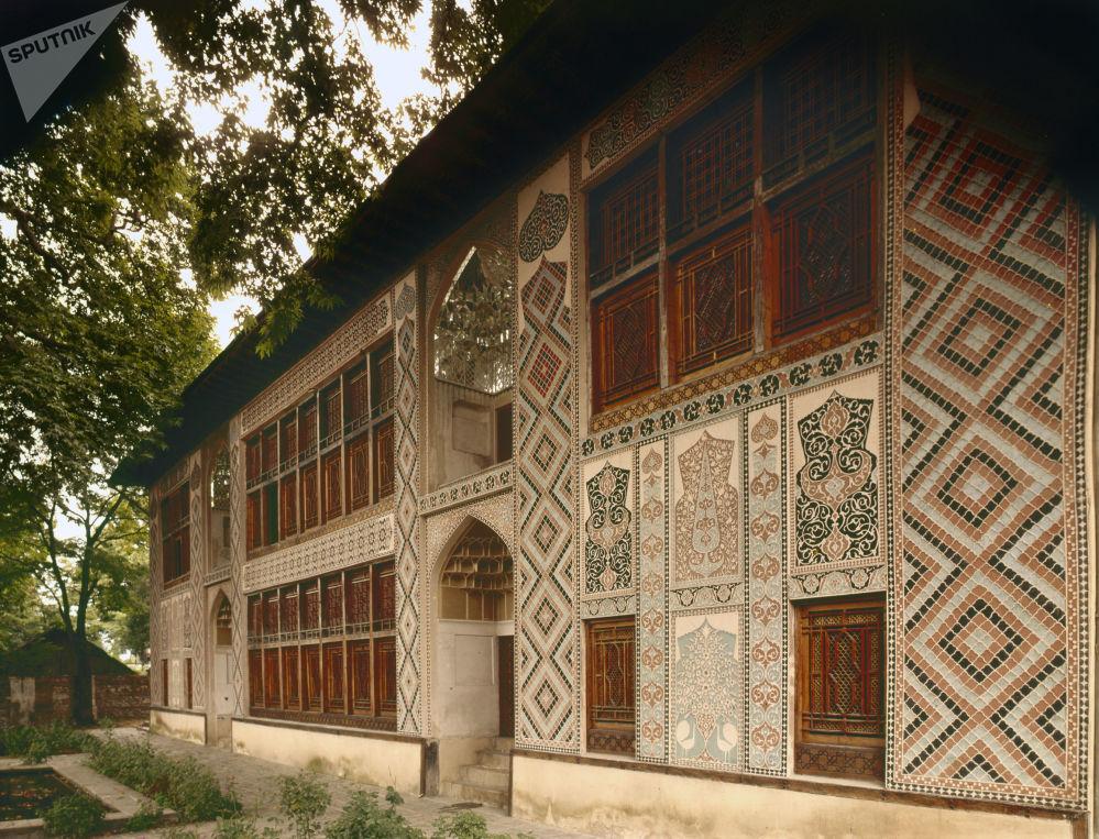 阿塞拜疆舍基历史中心及汗王宫殿外观
