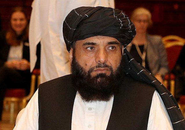 阿富汗塔利班运动驻多哈政治办事处发言人沙欣(资料图片)