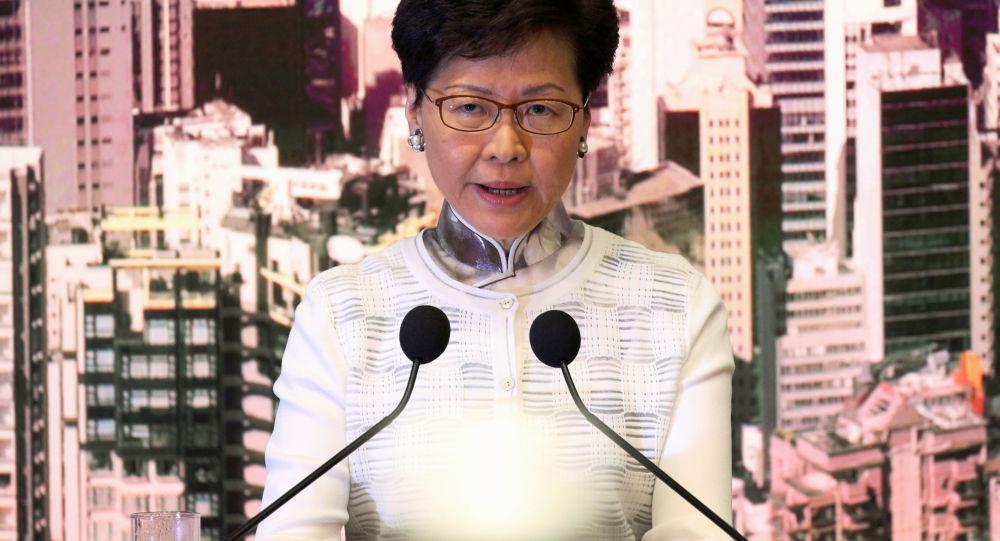 香港政府特首林郑月娥