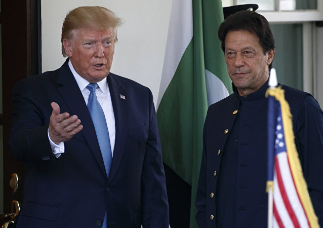美国总统特朗普与巴基斯坦总理伊姆兰·汗7月22日举行了会谈