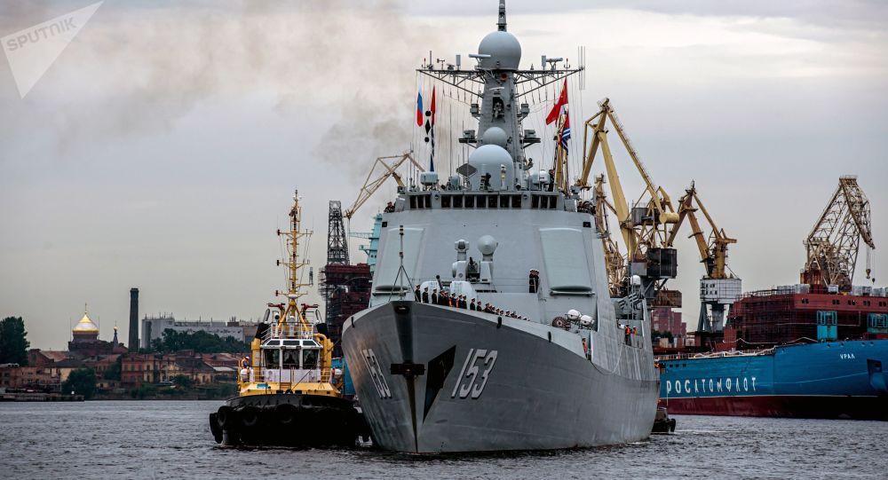 西安舰结束对圣彼得堡的非正式访问