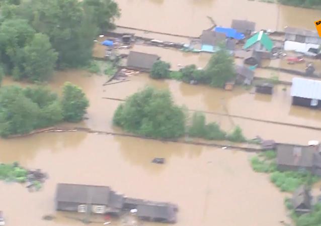 俄阿穆尔州洪灾已进入紧急状态