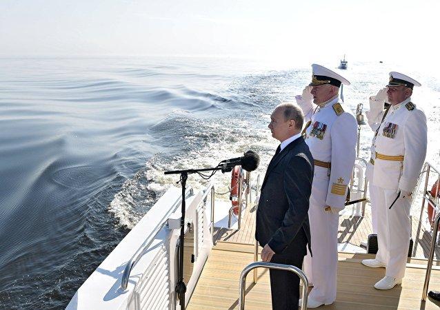 普京:俄海军自信地保障国家安全 能够对抗侵略者