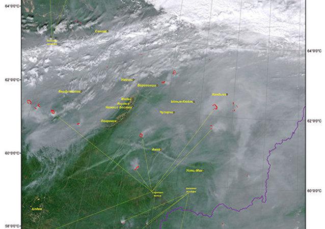 西伯利亚森林大火的烟雾已达蒙古境内
