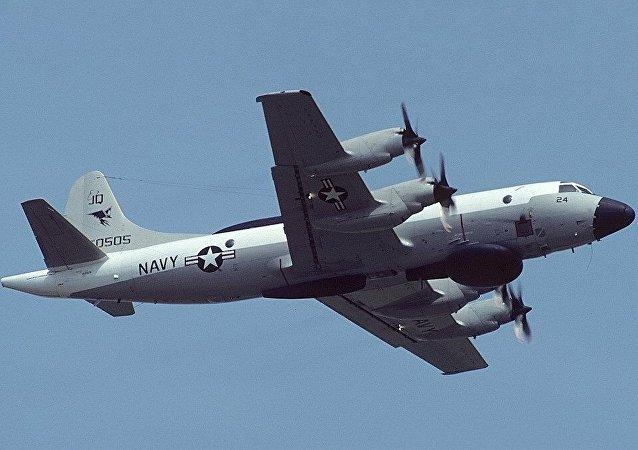美国飞机在俄罗斯黑海沿岸进行侦察