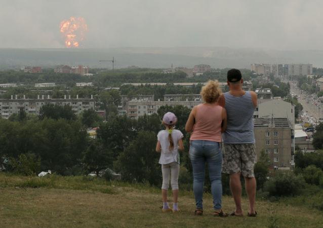 在克拉斯诺达尔边疆区的部队驻地内发生爆炸 (视频、图片)