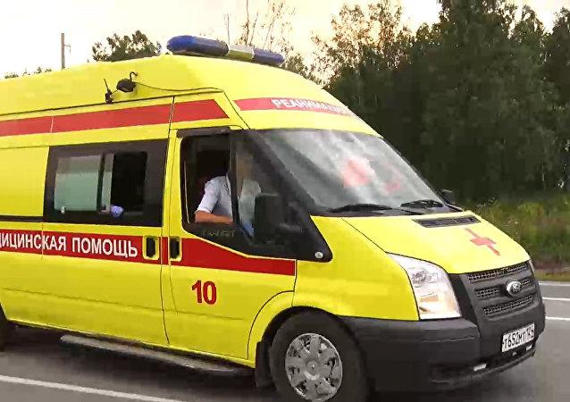 救护车在克拉斯诺亚尔斯克边疆区阿钦斯克区