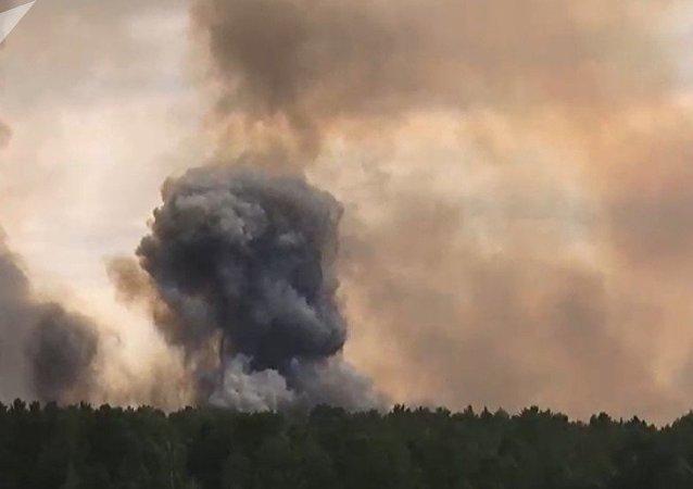 俄克拉斯诺亚尔斯克边疆区约1.6万人因弹药库爆炸而疏散