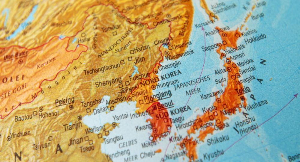 Карта Японии, Корейского полуострова и части Китая