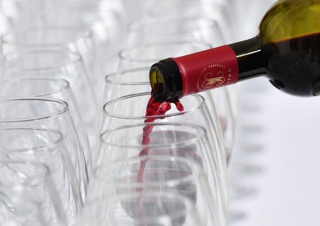 俄罗斯葡萄酒参加上海国际葡萄酒展览会