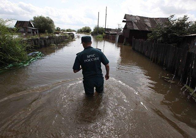 哈巴罗夫斯克边疆区被淹没的所有宅边地已退水