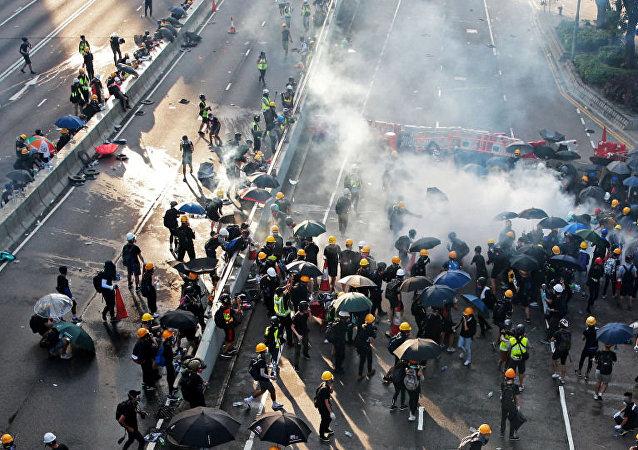 香港暴力事件导致两岸关系恶化