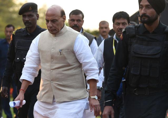 印度国防部长拉杰纳特·辛格(资料图片)