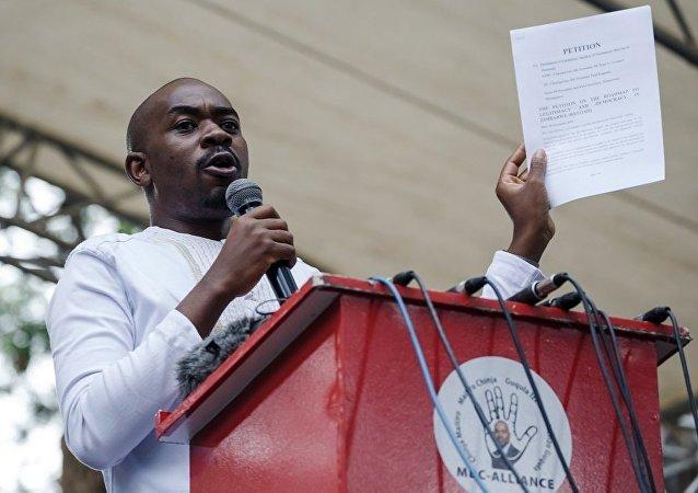 津巴布韦反对党争取民主变革运动党(MDC)领导人查米萨