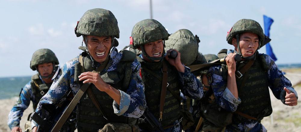 Китайские морпехи на Армейских международных играх-2019