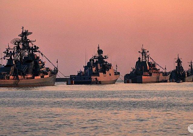 乌克兰一艘侦察舰驶入俄黑海舰队演习区