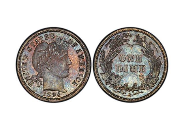 巴伯10美分硬币 (1894-S Barber dime)