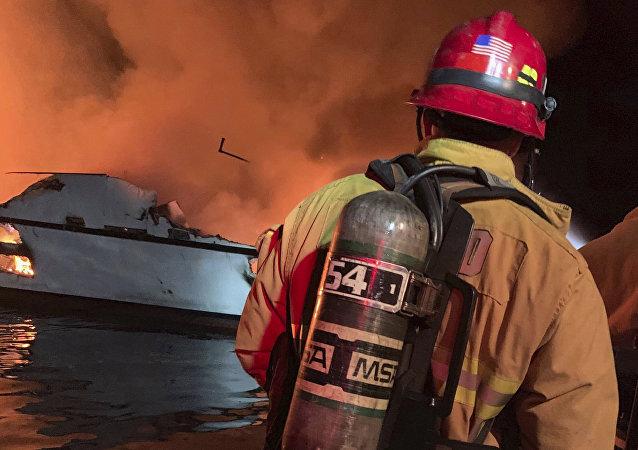 美国加州船只起火事件又发现4名遇难者