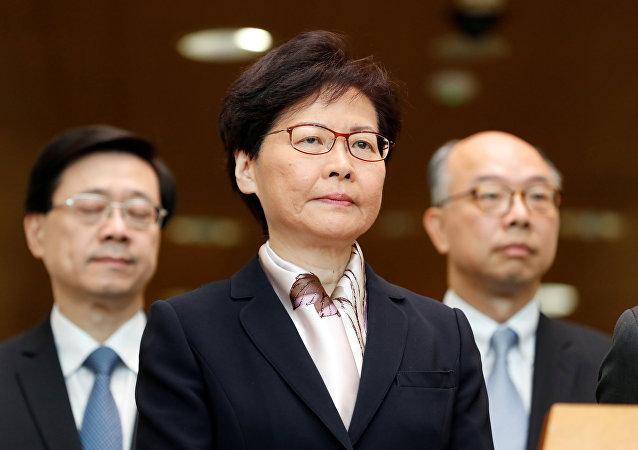 林郑月娥:支持梁君彦将《国歌条例草案》付诸表决通过