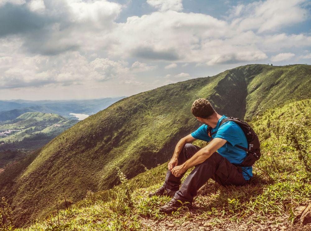 巴西山脉中的游客