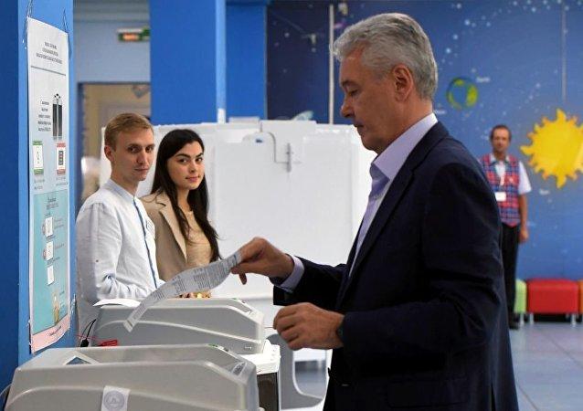 莫斯科市长谢尔盖·索比亚宁