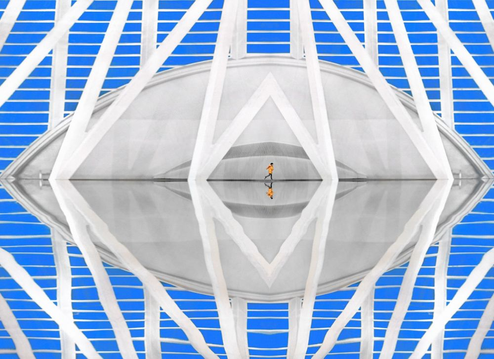 瓦伦西亚的科学艺术城。作者:Pedro Luis Ajuriaguerra Saiz(西班牙)。