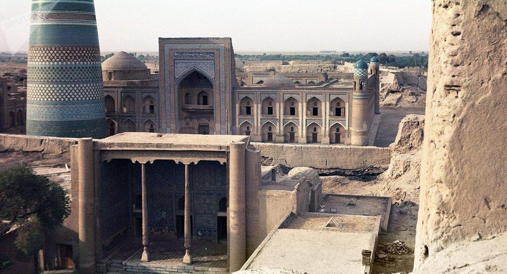 清真寺高塔 ,希瓦,乌茲别克斯坦