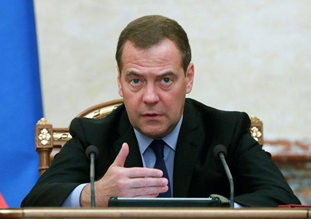 """""""统一俄罗斯""""党主席梅德韦杰夫"""