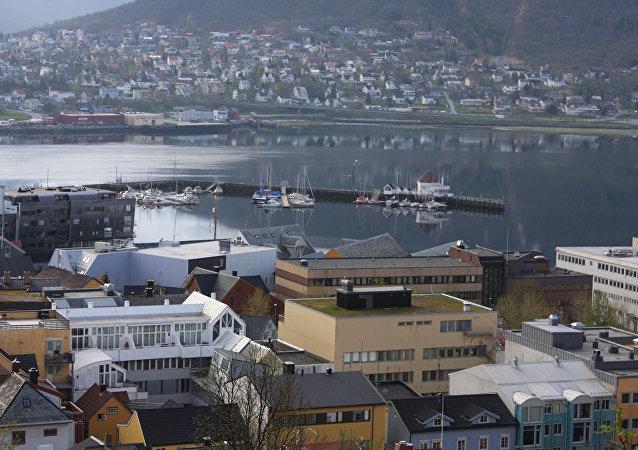 挪威港口城市特罗姆瑟