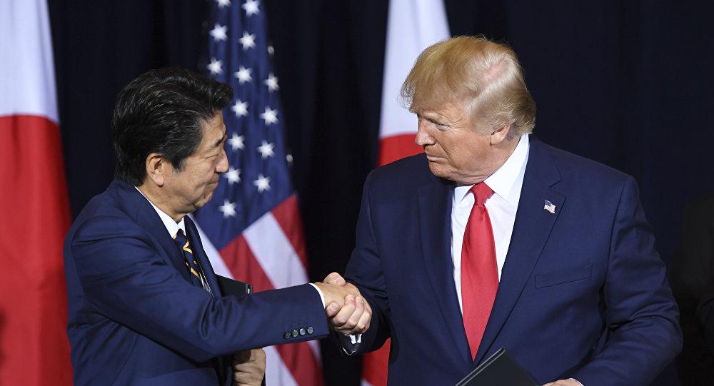 特朗普与安倍在联大会议期间签署美日贸易协议
