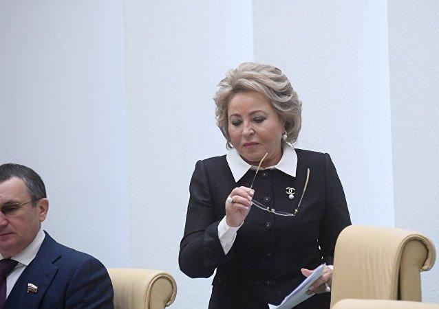 俄罗斯联邦委员会主席马特维延科(资料图片)