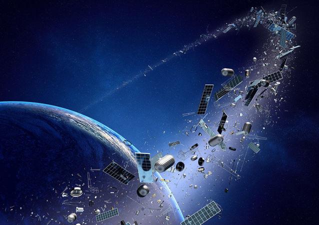 Космический мусор летит к Земле