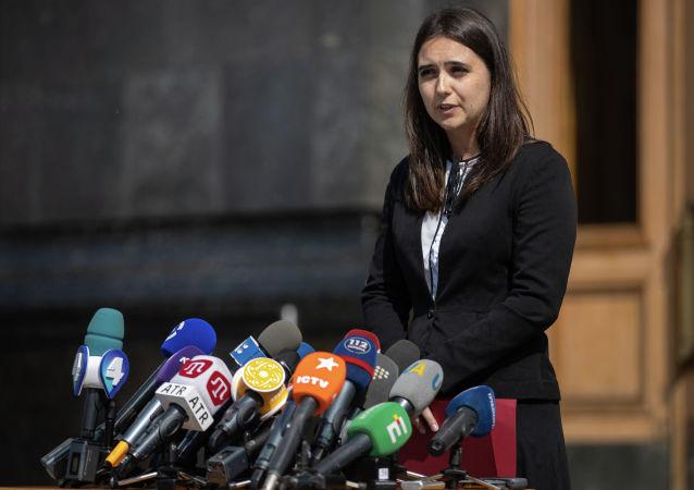 乌克兰总统新闻秘书尤利娅•门德尔