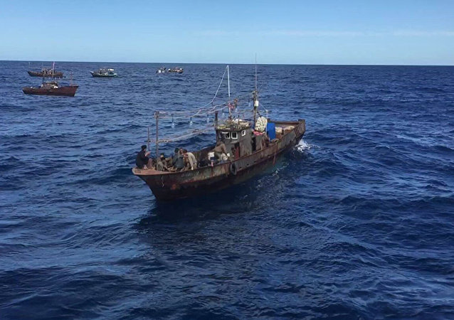 俄边防人员在滨海边疆区再拘留87名朝鲜盗渔者
