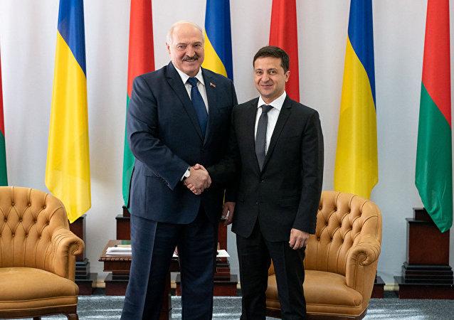 泽连斯基与卢卡申科