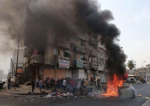 抗议活动在伊拉克首都