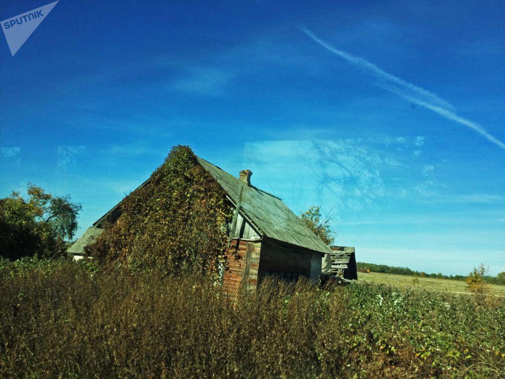 波列斯基辐射生态区内被疏散村庄的房子