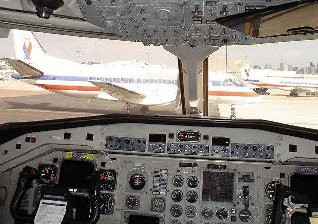 Saab 340B 客机的驾驶舱