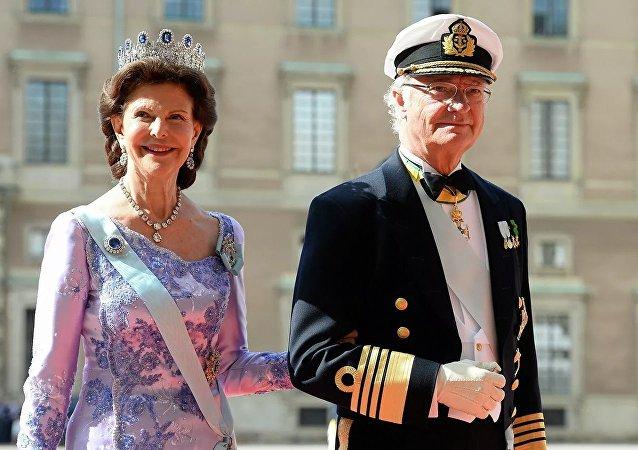 瑞典国王卡尔十六世·古斯塔夫与瑞典女王西尔维亚