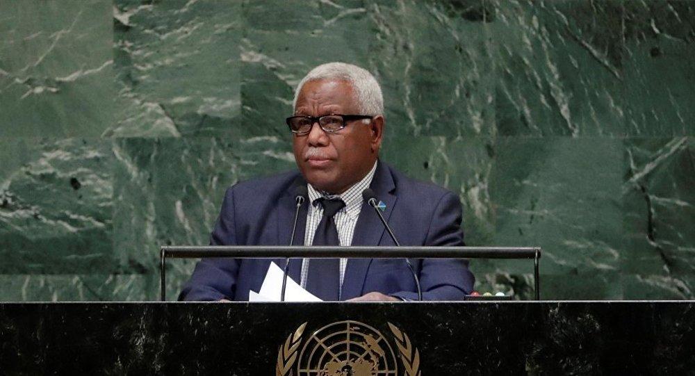 不久前与中国建交的所罗门群岛总理索加瓦雷今起正式访华