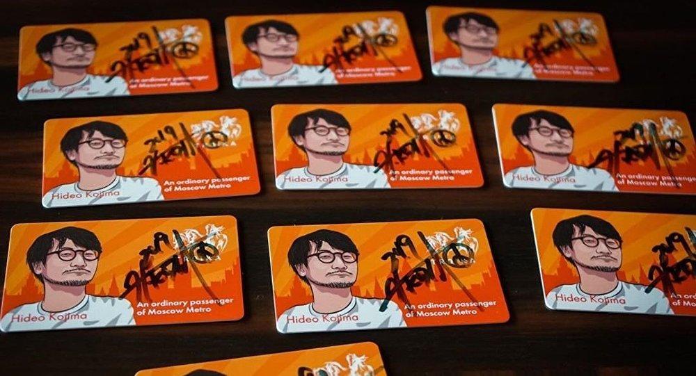有小岛秀夫亲笔签名的地铁卡在网上出售
