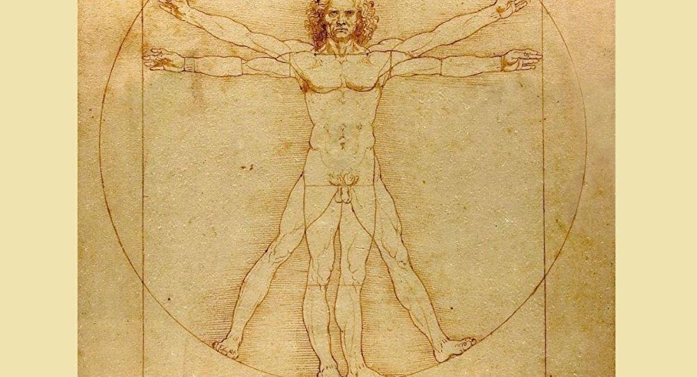 达•芬奇著名素描《维特鲁威人》