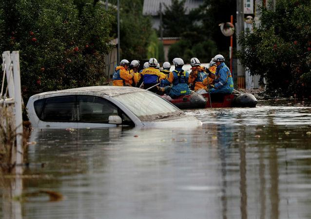 """""""海贝思""""台风致日本遇难人数上升至77人"""