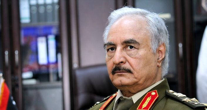 """利比亚""""国民军""""领导人哈夫塔尔"""