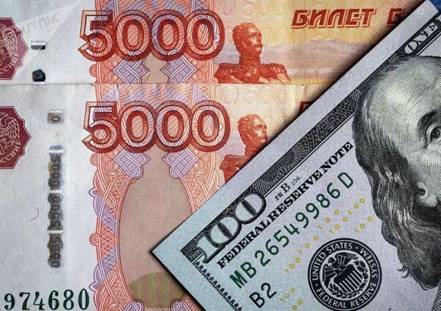 俄罗斯卢布2020年对美元下跌16.7%