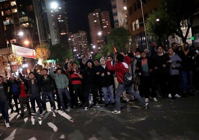 玻利维亚抗议者