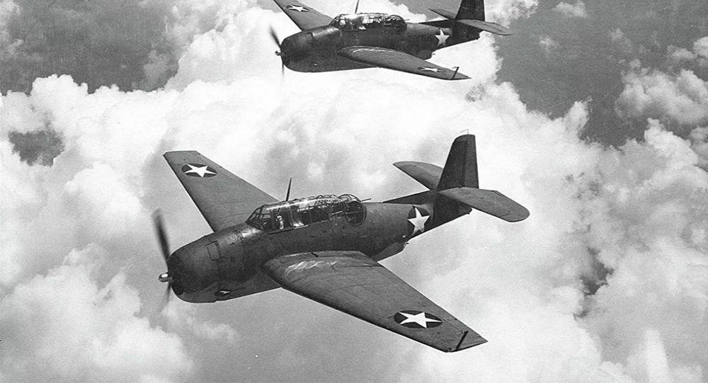 美国海军5架鱼雷轰炸机