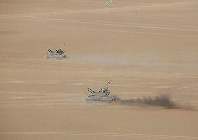 俄埃防空兵在开罗附近演习中首次进行防空导弹实弹发射